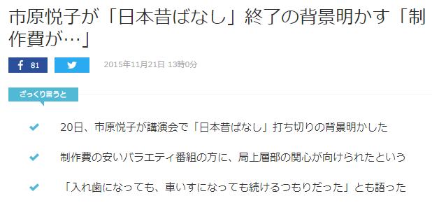 まんが日本昔ばなしで傑作多数の名声優「市原悦子さん」ご逝去