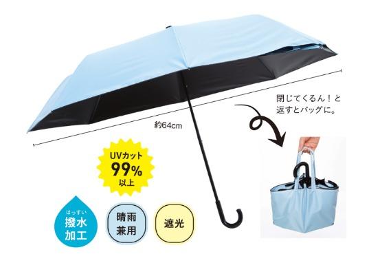 【NHK まちかど情報室】折り畳み傘がバッグに!~ひっくり返します