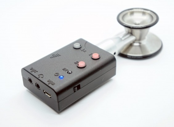 まちかど情報室|聴診器の音をスピーカーやヘッドフォンで聴ける端末