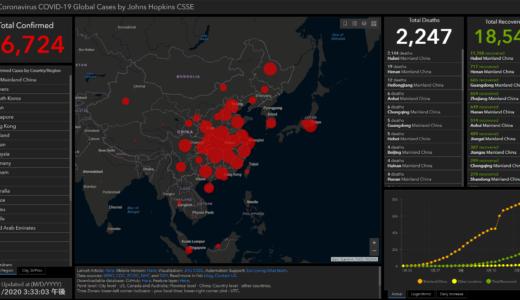 【新型肺炎】感染者数や死亡者数をリアルタイムで表示しているサイト